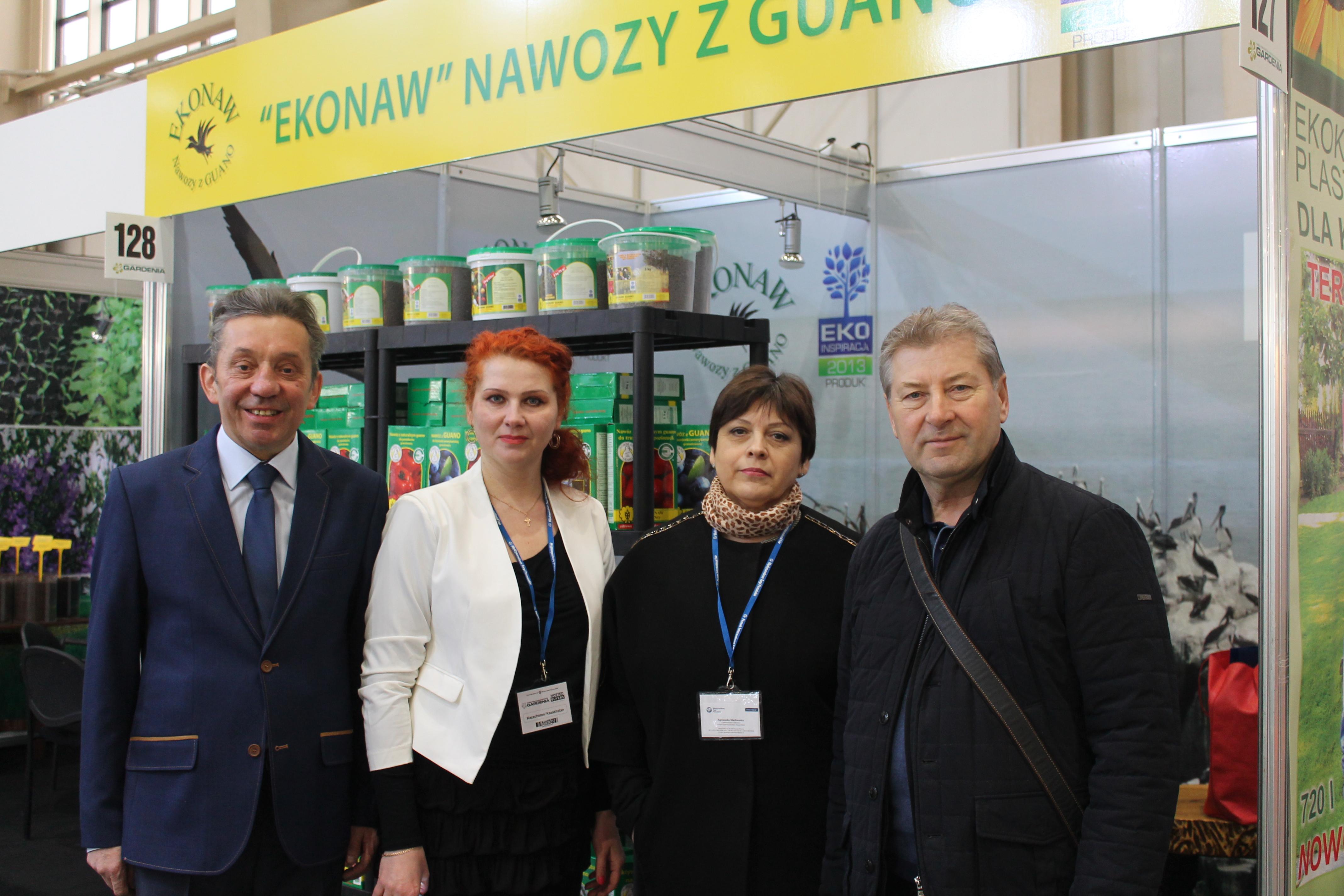 Dyrektor Handlowy Ekonaw - Pan Andrzej Bernaciak i goście z Kazachstanu