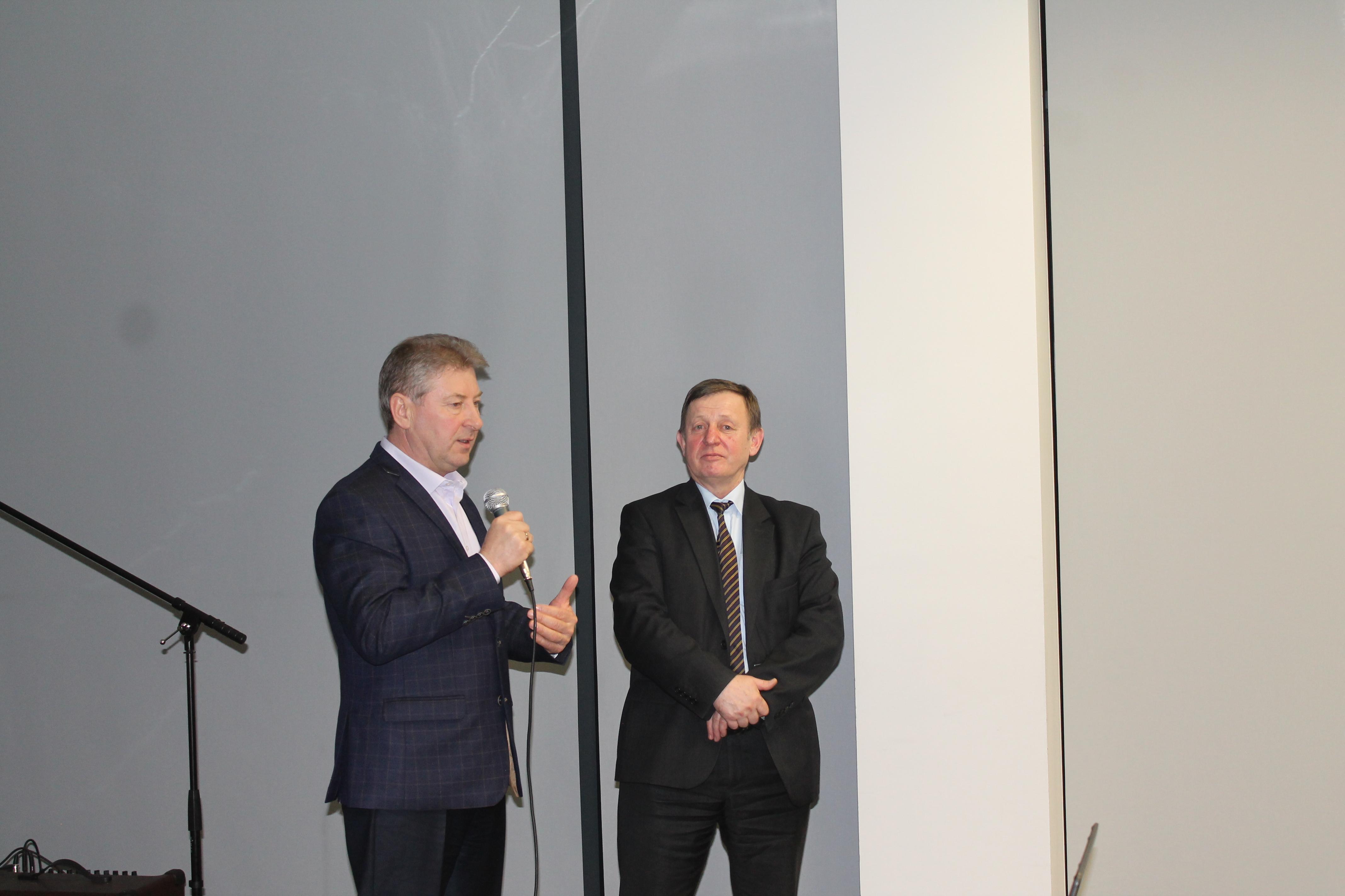 Prezes Piotr Guzowski i Pan Anatolij Rafalski z Kazachstanu