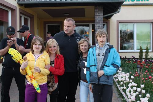 Organizator i Patron Mistrzostw Strongmenów i moja rodzinka